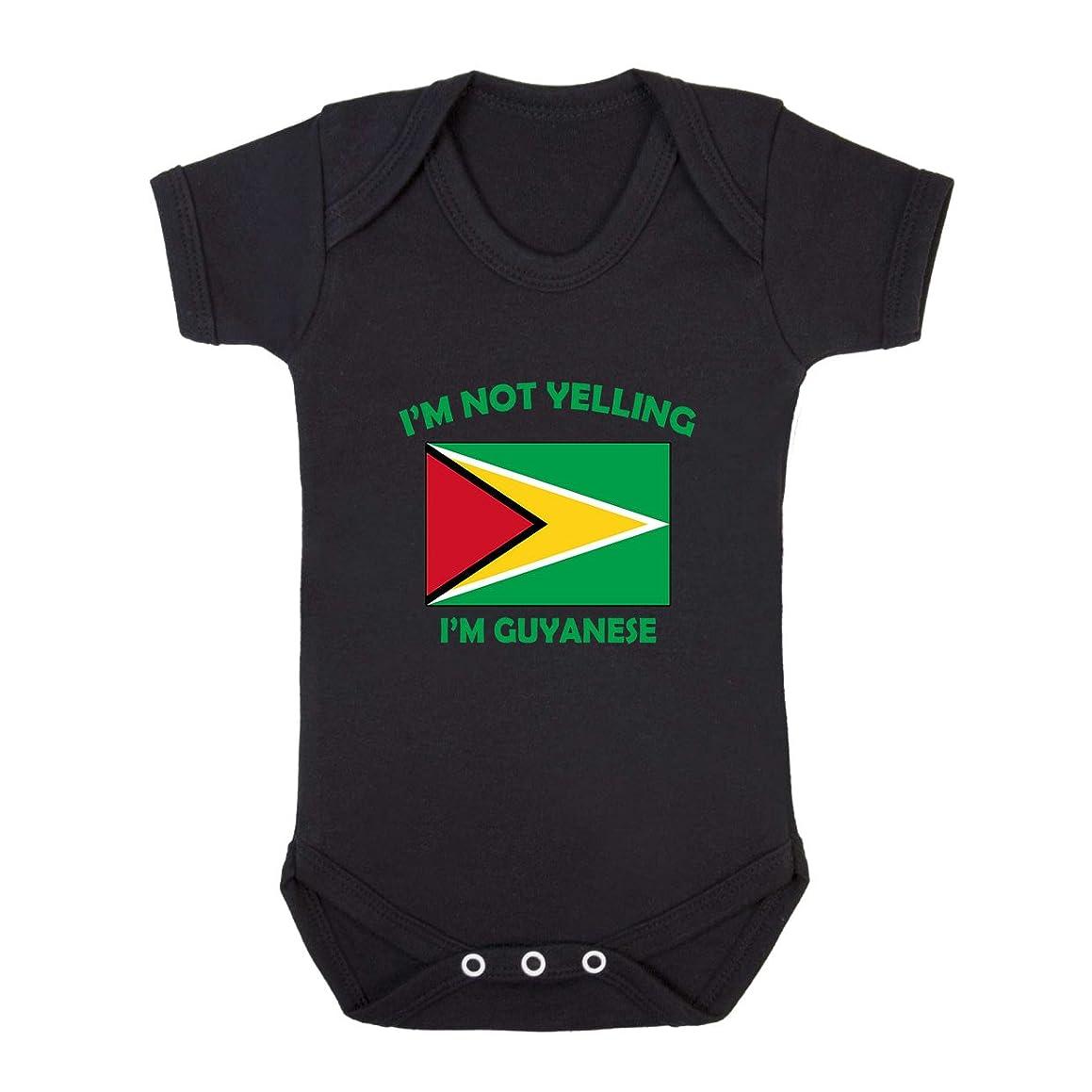 I'm Not Yelling, I Am Guyanese Guyana Baby Bodysuit One Piece Black Newborn