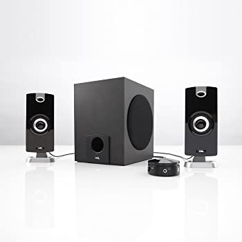 Cyber Acoustics 2.1 Subwoofer Speaker System with 18W of Power – Great for Music, Movies, Gaming, and Multimedia Comp...