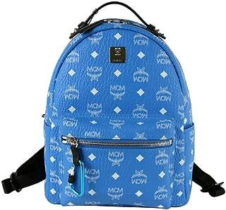 MCM Unisex Blue/White Coated Canvas Visetos Small Backpack MMK9SVE49HI001
