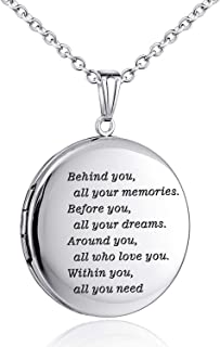 Graduation Gifts Locket Necklace that Holds Pictures Memory Round Photo Locket Pendant Congrats Grad Jewelry