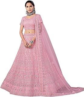 Pink Indian New Arrival Net Dori & Zarkan Diamond Wedding Reception Lehenga Chaniya Choli Dupatta 6228 2