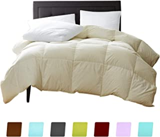 New York Mercado 100% Organic Cotton Comforter Luxury and Premium Quality Quilted with Corner Tabs 500 GSM GOTS Certified 800 TC All Season Warm Fluffy Ultra-Soft Comforter King/Cal-King, Ivory