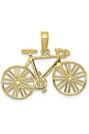 Painted Bicyle Necklace Bike Bird Necklace Bicycle Necklace Boho Bike Necklace