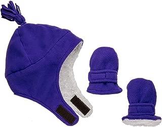 Zelda Matilda Baby Toddler Hat & Mittens - Baby Boy & Girl Winter Fleece and Sherpa Kid Mitten