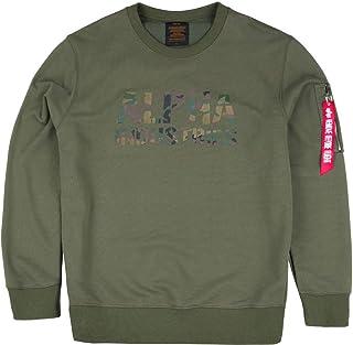 ALPHA INDUSTRIES Men's Camo Print Sweat Sweatshirt