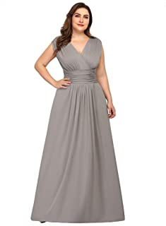 Ever-Pretty Women`s Plus Size V-Neck Wrap Dress Long Formal Evening Dress 07661