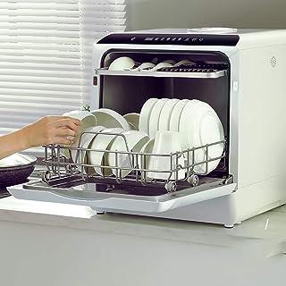 WWXY Lavavajillas de encimera Lavavajillas portátiles Lavavajillas compactos intensivo, Normal, Eco, Vidrio, 90 Minutos, rápido, Fruta, autolavado Consumo de Agua 5L