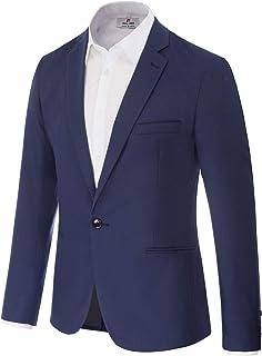PAUL JONES Men's Slim Fit One Button Blazer Jacket Casual Suit Jacket