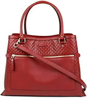 599a6fb3667 Gucci Women s Red Guccissima Leather Large Shoulder Bag 510290 6420