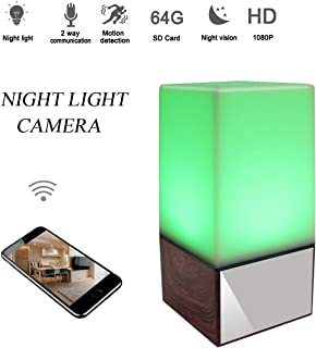 Seahon 1080P Night Light Hidden Spy Lamp Camera WiFi Baby Monitor HD Nanny Cam with Night