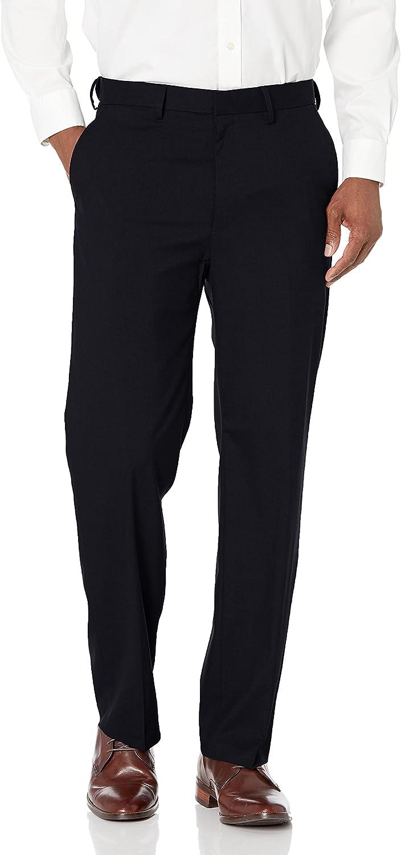 J.M. Haggar Men's Jm Haggar Sharkskin Expandable Waist Classic Fit Dress Pant