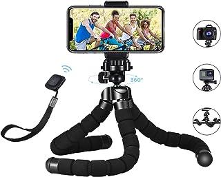 """Mpow Mini Trípode Flexible Cámara Gopro Móvil con Tornillo 1/4""""Soporte Universal Cabeza de Bola 360°y Control Remoto Bluetooth Para Gopro iPhone Todos los teléfonos Android Cámaras digitales Trípode"""
