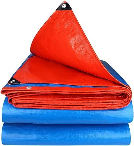 LIYFF- 100% Imperméable à l'eau et Couvertures de Bache Résistantes Prougeégées par UV de Bache pour Camper, Pêchant, Options de Multi-Taille (Bleu)