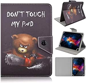 DETUOSI Universal 10.1 inch Tablet Case, 10 inch Tablet Cover, Travel Portable Protective Folio Leather Stand Shell Case【with 4 Fixed Rings】for All Kinds of 9.6-10.5 inch Android/iOS/Windows Tablet #7