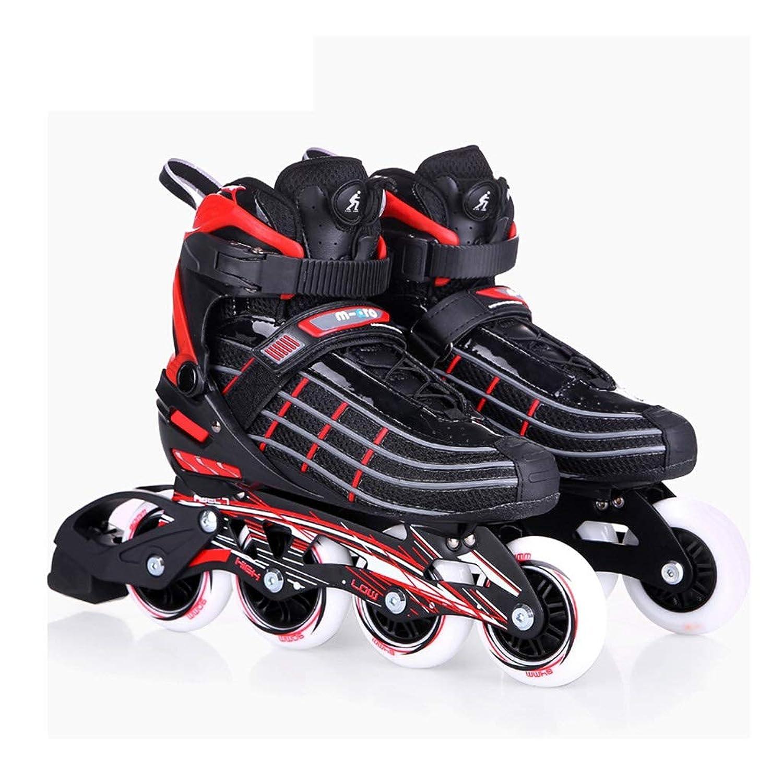 スケート成人大学ローラースケート男性と女性ストレート行初心者ファンシーシューズフラットシューズクラブローラーシューズ (Size : EU 43/US 10/UK 9/JP 26.5cm)