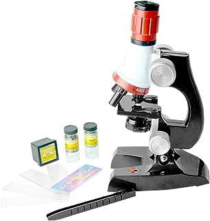 لعبة المجهر الحيوي 1200X من كيدز ساينس - أدوات تعليمية للأطفال (أسود)
