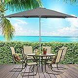 Best Choice Products 9ft Outdoor Aluminum Polyester Market Patio Umbrella w/Crank Tilt Adjustment - Gray