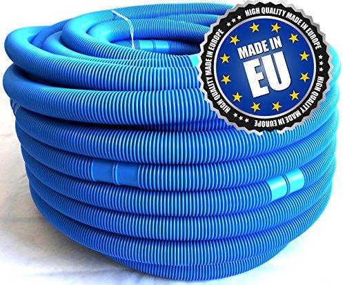 Poolschlauch 4,4 Meter blau 32 mm, Poolomio Schlauch für Intex und Bestway Filteranlagen, für Pool und Schwimmbad, 1 x 4,4 m Gesamtlänge, alle 110 cm teilbar, original nur aus Europa