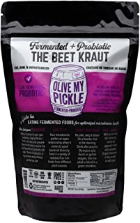 Olive My Pickle | Fermented & Probiotic Sauerkraut For Gut Health - THE BEET KRAUT 16 OZ. (1 PACK) Ships FREE