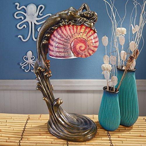 Design Toscano KY7477 Siren of The Sea Mermaid Art Deco Illuminated Sculpture Siren of The Sea Mermaid Lamp