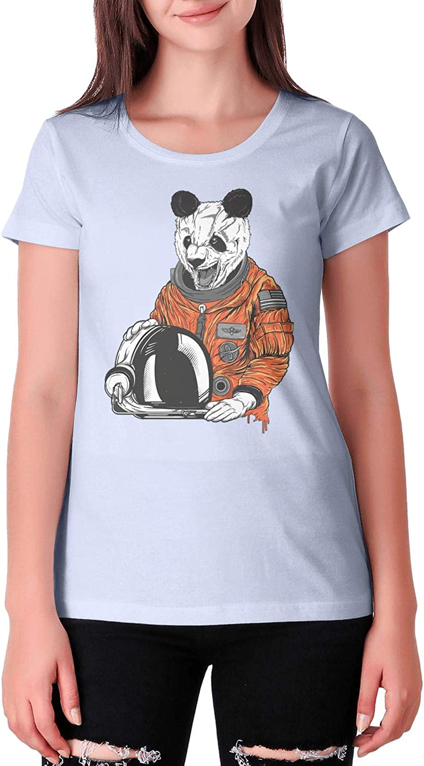 Panda Rainbow Young Women Cool Crew Neck Suitable for Fitness Clothes