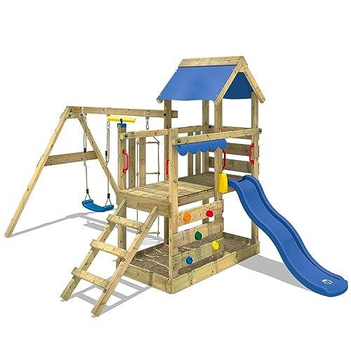 0bd71f8778 Wickey Gioco Torre Turbo Flyer kletter Torre Parco Giochi con Sabbiera  Altalena Parete di Arrampicata e