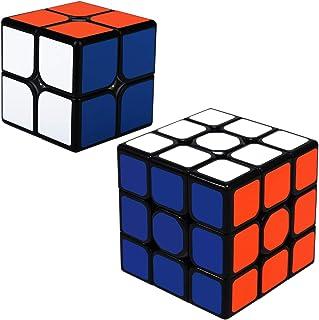 Maomaoyu Speed Cube Coffret, Cube Magique 2x2 3x3 Smooth Cube pour Enfants et Adultes ,Pack de 2