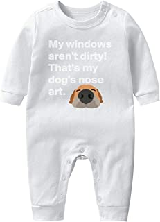 My Windows aren't Dirty That's My Dog's Nose Art Baby Boys Girls Long Sleeve Baby Onesie Romper Jumpsuit