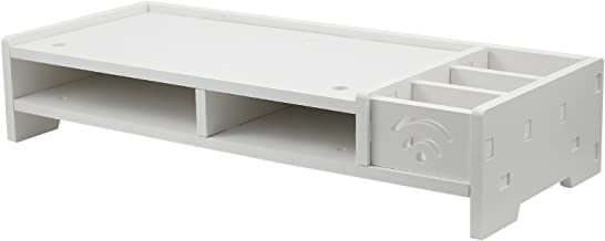 Soporte para Monitor de Sobremesa Impermeable con Organizador de Escritorio Soporte de dos Estantes para Computadora de Escritorio LCD TV Laptop Monitor