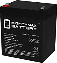 Mighty Max Battery ML5-12 - 12V 5AH Alarm System Battery Back Up Vista 20P ADT Brand Product