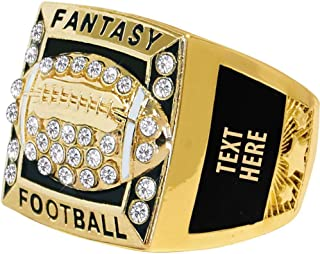 Crown Awards Fantasy Football Premiere Ring, Fantasy Football Rings with Custom Engraving Prime