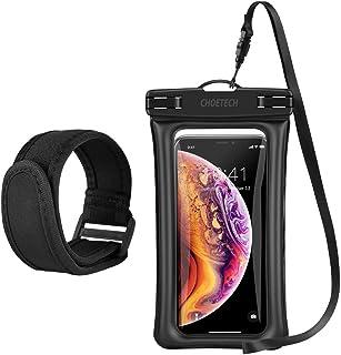 حافظة شفافة للهواتف المحمولة بتصميم حقيبة مقاومة للماء والغبار بحزام للعنق والذراع ومتوافقة مع اجهزة ايفون 7، 7 بلاس، 6، 6...