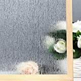 VELIMAX Rain Glass Window Film Privacy Static Window Clings...