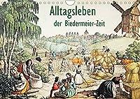 Alltagsleben der Biedermeier-Zeit (Wandkalender 2022 DIN A4 quer): Sehr seltenes Bildmaterial aus dem Bereich der fruehen Gehoerlosen-Paedagogik. (Monatskalender, 14 Seiten )