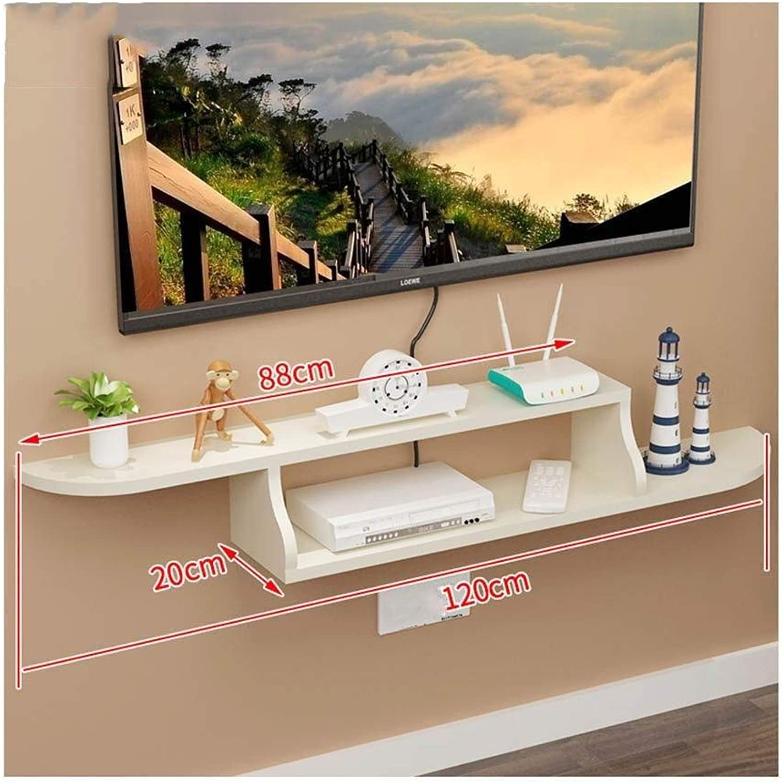 HONGYU Regal Set-Top Box TV Schrank Wand Trennwand Wanddekoration Rahmen -5 Farben -120  80  20cm (Farbe   E)