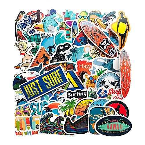 WYZNB 50 pegatinas Vsco Summer Surfing Fresh Trolley Case Skateboard Notebook casco graffiti decoración DIY pegatinas
