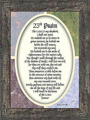 Vintage 23rd Psalm, Scripture from The 23rd Psalm, 7x9 77931BW