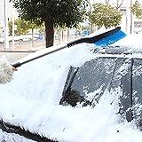 AMYMGLL telescópica de aluminio cepillo para nieve nieve coche pala pala de nieve hielo icing telescópica