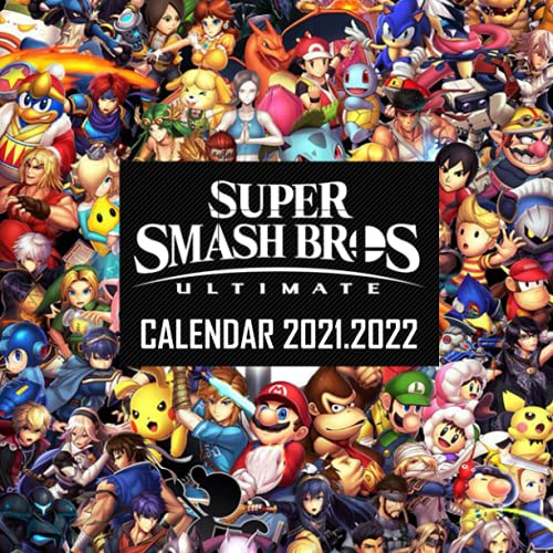 Super Smash Bros: 2021 – 2022 Games Calendar – 18 months – 8.5x8.5 High Quality Images