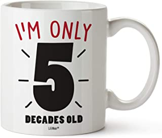 50th Birthday Gifts For Women FiftyYears Old Men Gift Mugs Happy Funny 50 Mens Womens Womans Wifes Female Man Best Friend 1969 Male Mug Unique Ideas 69 Woman Wife Gag Dad Cute Girls Guys Good Husband