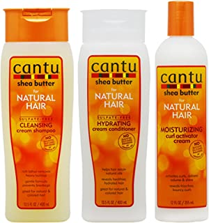 "Cantu Shea Butter Shampoo + Hydrating Conditioner + Curl Activator Cream""SET"" for Natural Hair"