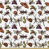 ABAKUHAUS Bugs Stoff als Meterware,