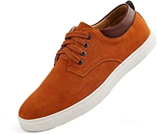 Men's Suede Leather Lace Up Classic Casual Shoes