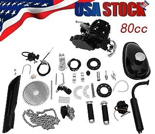 YOCrazy-US Direct Bicycle Motor Kit,Bicycle Motorized 80CC Petrol Gas Motor Bicycle Engine Complete Kit Motorized Bike 2-Stroke Gas Motorized Bike Motor Kit
