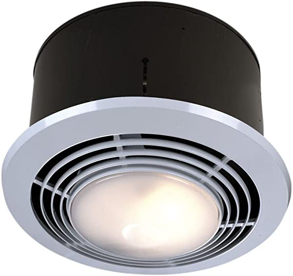 NuTone 9093WH Deluxe Heat A Ventlite Heater With Ventilator And Incandescent Ceiling Light 70 CFM 1500 Watt White 1 Unit