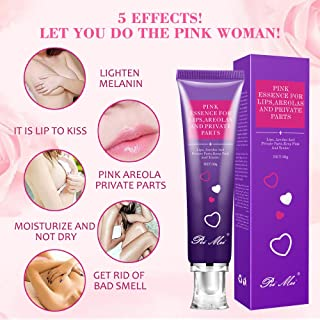 Pink Essence For Lips, Areolas & Private Parts, Lightening Whitening Bleaching Cream from Natural & Safe Ingredients, 30g