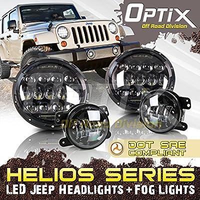Optix Jeep Wrangler LED Headlights