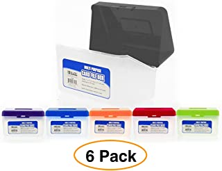"""Index Card Holder File Case/Box - Holds up to 250 Index Cards 5""""x 3"""" (6 Pack)"""