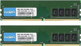 テクミヨ デスクトップPC用 メモリDDR4-2666MHz CL19 288Pin Unbuffered DIMM 8GB×2枚 永久保証