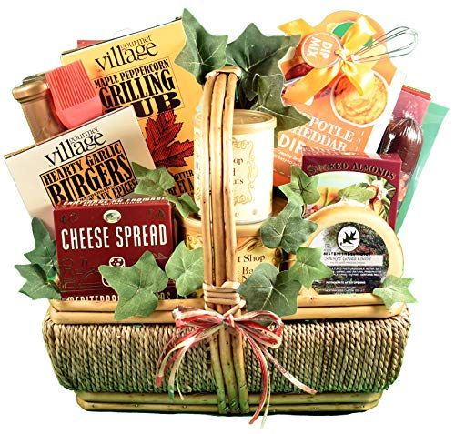 The Grill-Master, Deluxe - A Grilling Gift Basket For Men With BBQ Sauce, Rubs, Recipes, Nuts & More - http://coolthings.us